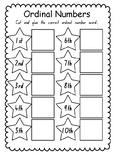 Ordinal Number Word Cut and Paste Worksheet