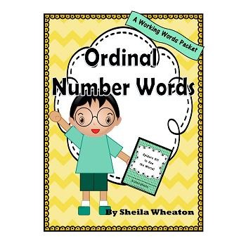 Ordinal Number Words: A Working Words Packet for Young Readers