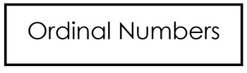 Ordinal Numbers 1-10
