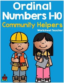 Ordinal Numbers 1-10 Community Helpers Worksheets