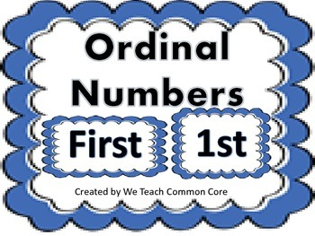 Ordinal Numbers 1-10 Math Center or Whole Group Activity