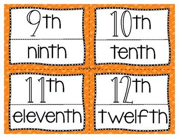 Ordinal Numbers 1-12 FREEBIE!!