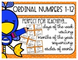 Ordinal Numbers 1-12 FREEBIE!!