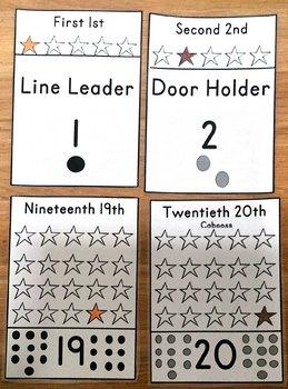 Ordinal Numbers 1-20 Floor Pieces