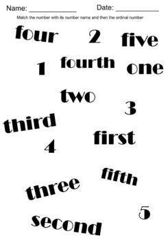 Ordinal Numbers 1-6