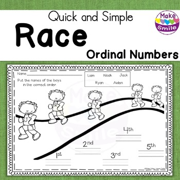 Ordinal Numbers Race
