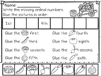 Ordinal Numbers 1st to 10th