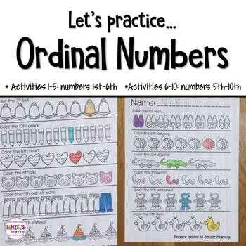 Ordinal Numbers 1st - 10th Practice!