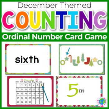 """Ordinal Numbers: 1st-10th """"Slap-It!"""" card game math center Christmas Theme"""