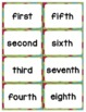 "Ordinal Numbers: 1st-10th ""Slap-It!"" card game math center Christmas Theme"