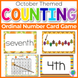 "Ordinal Numbers: 1st-10th ""Slap-It!"" card game math center October Theme"