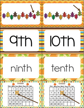 """Ordinal Numbers: 1st-10th """"Slap-It!"""" card game math center October Theme"""