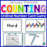Ordinal Numbers: Card Game | Math Center | January Ordinal Numbers