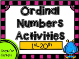 Ordinal Numbers (1st-20th) Activities