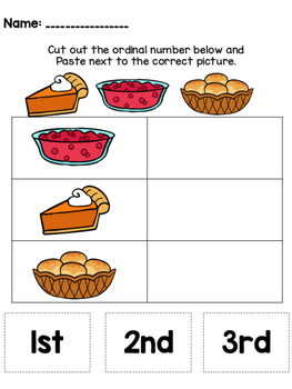 Ordinal Numbers (1st, 2nd, 3rd) FREEBIE