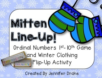 Ordinal Numbers 1st to 10th  *Mitten Line Up* & Winter Clo