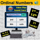 Ordinal Numbers 1st to 12th   Boom Cards   ESL   K-3   Dis