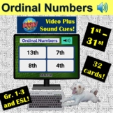Ordinal Numbers 1st to 31st   Boom Cards   ESL   K-3   Dis