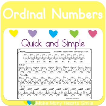Ordinal Numbers with Apples