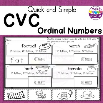 CvC AND Ordinal Numbers Clues