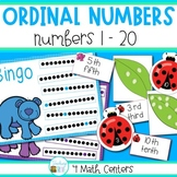 Ordinal Numbers to 20 Math Centers