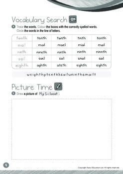 Ordinal Numbers - 6th to 10th (I): Word Family AIL - K3 (5 years old)