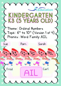 Ordinal Numbers - 6th to 10th (I): Word Family AIL - K3 (5