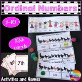 Ordinal Numbers Activities 0-10 Printable Kindergarten Math Centers