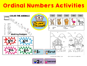 Ordinal Numbers Activities - A Fun Way
