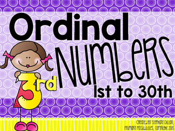 Ordinal Numbers Activities and Printables