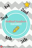 Ordinal Numbers Assessment