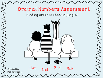 Ordinal Numbers Assessment