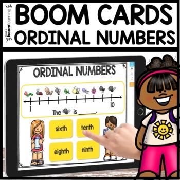 Ordinal Numbers BOOM CARDS