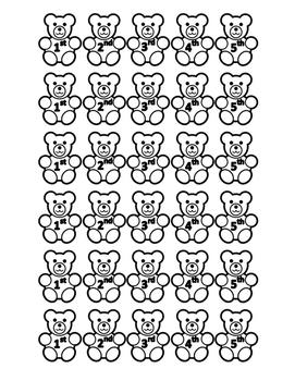 Ordinal Numbers Bears
