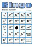 Ordinal Numbers Bingo