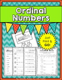 Ordinal Numbers Booklet: Print & GO!
