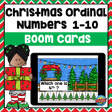 Ordinal Numbers Boom Cards (Christmas) | Distance Learning