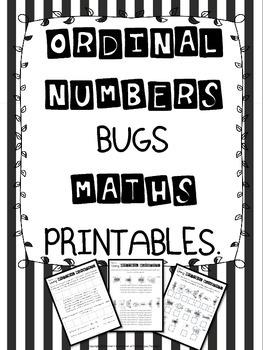 Ordinal Numbers Bugs Maths Printables