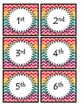 Ordinal Numbers Cards!