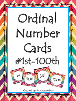 Ordinal Numbers Cards!