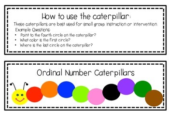 Ordinal Numbers Caterpillar