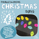 Ordinal Numbers Christmas Lights Craftivity 1st to 10th