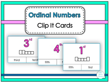 Ordinal Numbers Clip It Cards