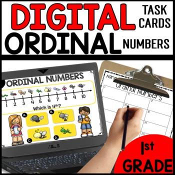 Ordinal Numbers DIGITAL TASK CARDS