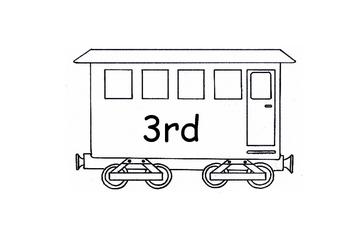 Ordinal Numbers Display -1 to 30 - Train