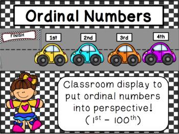 Ordinal Numbers Display & Game
