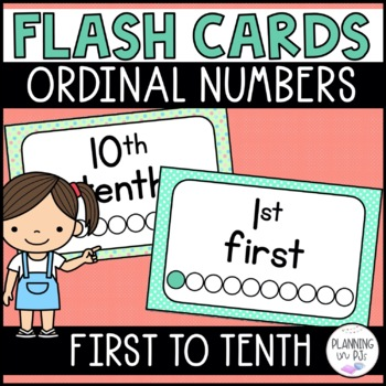 Ordinal Numbers Flash Cards
