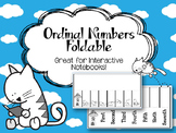 Ordinal Numbers Foldable. Place Value. Interactive Notebook. Cats