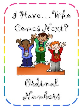 Ordinal Numbers Game  (Differentiated)