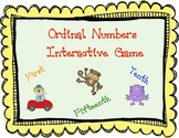 Ordinal Numbers Interactive Mimio Game